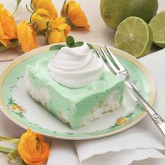 Luscious Lime Angel Squares ~ the colors are perfect for St. Patrick's Day, Easter, or any spring event