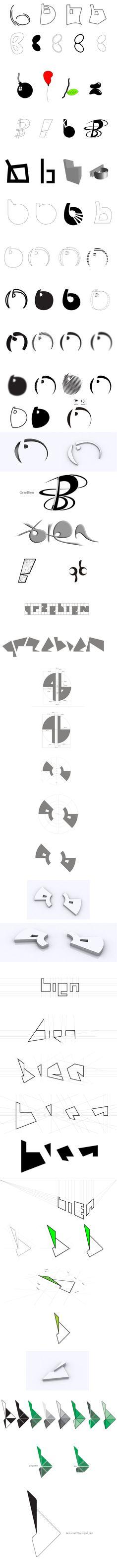 bien project   grzegorz bien   logo process