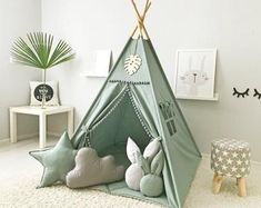 Teepee and mat is made of cotton. The mat is made of cotton fabric, suitable in color and texture to the teepee. Care instructions for teepee We produce only eco-friendly materials! Diy Tipi, Tp Tent, Wooden Feather, Kids Teepee Tent, Baby Tent, Play Tents, Child Teepee, Girls Tent, Childrens Teepee