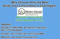 Western Overseas Study visa consultant. We deal in Study visa and IELTS coaching. We have our four offices in north India. Which are in Chandigarh, Ambala, Kurukshetra and Sonipat