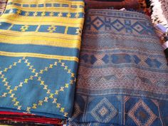 Woven fabrics by the Vankar tribe in the Kutch region of Gujarat, India.