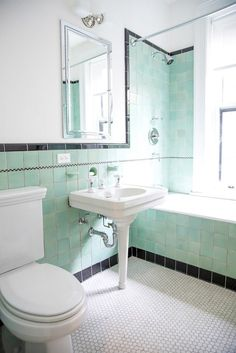 Brand New Colorful Bathrooms That Look Vintage or Retro | Apartment Therapy