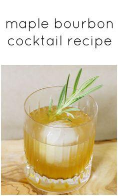 Maple Bourbon Sour Cocktail