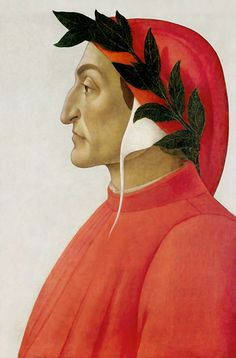 Sandro Botticelli - Posthumous portrait of Dante Alighieri Sandro, Giovanni Boccaccio, Human Icon, Dantes Inferno, Late Middle Ages, Pilgrim, Renaissance, Tempera, Pop Art
