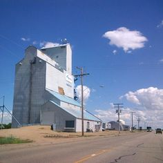 Last remaining grain elevator in Yellow Grass, SK - photo by Kim Byrns (June…