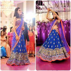 Super cute lengha sari by Arpita Mehta for the reception!