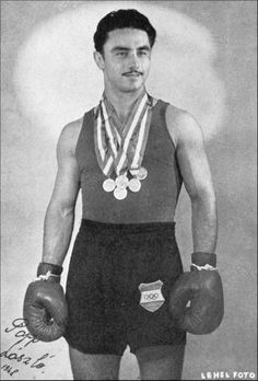 László Papp. Hungarian middleweight who won 3 golds, a feat later matched by Cuban heavyweights, Stevenson & Savon.
