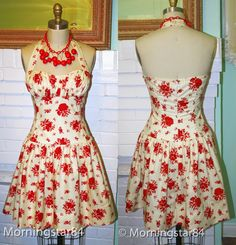 Morningstar Pinup: Sookie Stackhouse's Red & White Floral Halter Dress