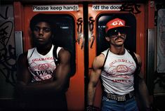 Guardian Angels on the NYC subway, 1980. Photo by Bruce Davidson.