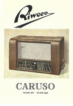 RIWECO-SCHWENNINGEN Radio Dealer Brochure Model Caruso W671 (W-Germany 1950)_3 by MarkAmsterdam, via Flickr