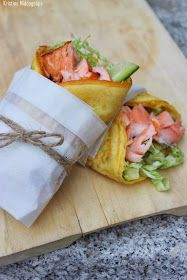 Omelette Wrap with salmon