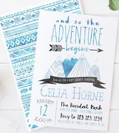 >> CLICK TO SHOP Celebrate the baby boy on the way with this adventure baby shower invitation! Invites a wild tribal feel feating watercolor mountains and arrows. Adventure Baby Shower Invitation, Mountain, Arrow, Tribal, Wild, Boy, Printable Invites