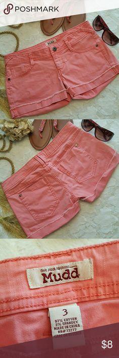 Mudd coral color shorts size 3 Mudd coral color shorts size 3 Mudd Shorts