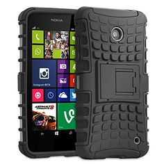 Fosmon [RUGGED] Nokia Lumia 630, Nokia Lumia 635 Case - HYBO-RAGGED Heavy Duty Hybrid Protective Cover with Kickstand... http://www.smartphonebug.com/accessories/12-best-nokia-lumia-630-cases-and-covers/