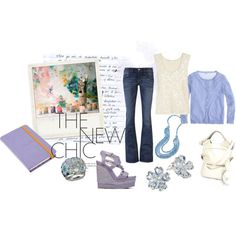periwinkle chic, created by krisabelle2 on Polyvore