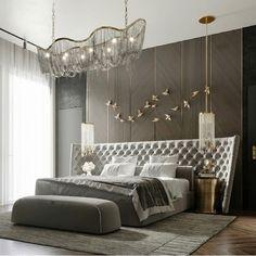 Modern Luxury Bedroom, Master Bedroom Interior, Room Design Bedroom, Luxury Bedroom Design, Luxury Rooms, Home Room Design, Small Room Bedroom, Luxurious Bedrooms, Home Decor Bedroom