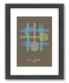Another great find on #zulily! 'Bon Appetit'  Wall Art #zulilyfinds