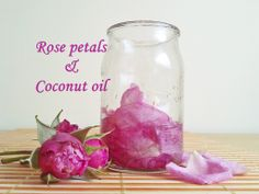 Coconut oil and rose petals. Love this scent.