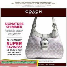 Coach Coupons Ends of Coupon Promo Codes MAY 2020 ! Coach, premium all-American leather label, much more than handbags. Coach Handbags Outlet, Coach Outlet, Women's Handbags, Replica Handbags, Michaels Coupon, Most Expensive Handbags, Cheap Coach Bags, Cheap Gucci, Thing 1
