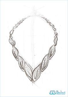 sketch necklace
