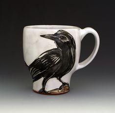 Crow Mug by Eileen de Rosas (Ceramic Mug) | Artful Home