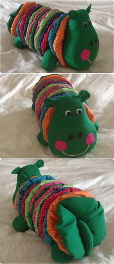 Meet Agatha, the Hippo :) - check the post for insights and a link to the pattern! Sewing Toys, Baby Sewing, Sewing Crafts, Fabric Toys, Fabric Crafts, Quilting Projects, Sewing Projects, Yo Yo Quilt, Operation Christmas Child