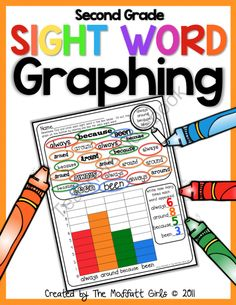Sight Word Graphing - I think I would create one without the word search at the top. They could just look through the book they were reading, tally up their count for each designated word, & then color the graph.