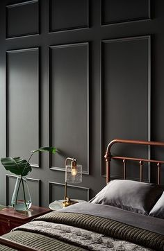 The 10 Grey Paint Colours Designers Always Use Grey, everyone's favourite warm neutral, is a go-to for cabinets, walls and more. Here's the top 10 grey paint colours that designers always use. Best Gray Paint, Grey Paint Colors, Interior Paint Colors, Dark Gray Paint, Interior Painting Ideas, Interior Walls, Home Decor Paintings, Dark Grey Colour, Home Painting Ideas
