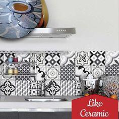 PS Oslo Adhésive Décorative à Carreaux Pour Salle De Bains - Stickers carrelage cuisine 15x15 pour idees de deco de cuisine