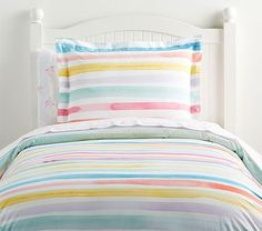 Shop rainbow bedding from Pottery Barn Kids. Find expertly crafted kids and baby furniture, decor and accessories, including a variety of rainbow bedding. Pottery Barn Kids, Rainbow Bedroom, Rainbow Bedding, Organic Duvet Covers, Flannel Duvet Cover, Striped Quilt, Ruffle Quilt, Bedding Basics, Luxury Bedding Sets