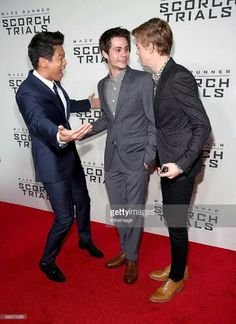 Ki Hong is so freakin' excited to see Dylan and Dyl and Thomas are just staring into each other's eyes.