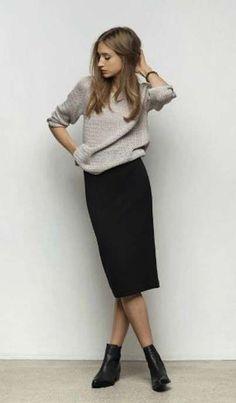 Abbinare i Chelsea boots - Chelsea boots con pencil skirt