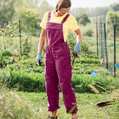 Pink overalls? Yes, I definitely need those.  Womens Heirloom Gardening Overalls with Capri Snaps - Duluth Trading
