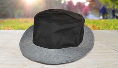Bucket Hat with Contrasting Brim