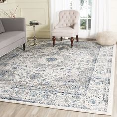 Safavieh Evoke Grey/ Ivory Vintage Area Rug (8' x 10') | http://Overstock.com Shopping - The Best Deals on 7x9 - 10x14 Rugs