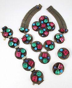Schiaparelli Necklace Bracelet Pin Earrings