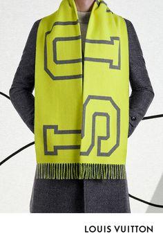 L écharpe Fluo Louis City de la collection Louis Vuitton Automne-Hiver 2018  est 5e99d10bcef