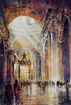 """The Vatican"" Watercolor by Tom Lynch"