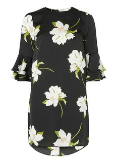 Black Lily Floral Shift Dress - View All Dresses - Dresses - Dorothy Perkins