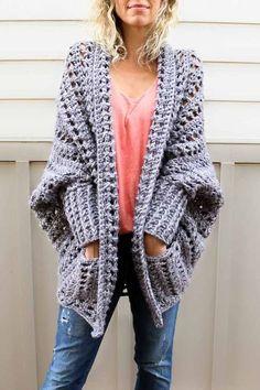Simply Crochet : Easy, Chunky Crochet Sweater - Free Pattern!