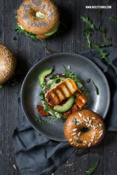 Dark and Moody Food Photography Tutorial and Halloumi Bagels
