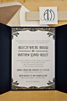 love these art deco invitations!