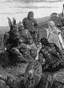 Arianesimo -Wulfila  spiega il Vangelo ai Goti  e poi scrive la sua versione della Bibbia
