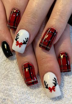 Cool and Stylish Christmas Nail Decoration Ideas Part 22 - Christmas Nail Art Designs Christmas Nails 2019, Xmas Nails, Holiday Nails, Christmas Nail Art Designs, Halloween Nail Art, Nagel Gel, Nail Decorations, Cute Nail Designs, Creative Nails