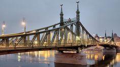 Szabadság híd (Liberty Bridge / Freiheitsbrücke / Pont de la liberté) Budapest City, Santorini, Bridge, Places, Travel, Viajes, Bridge Pattern, Bridges, Destinations