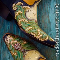 This HIGH SEAS #makinwaves #vintagetattoo style is one of our oldest but coolest tooled designs