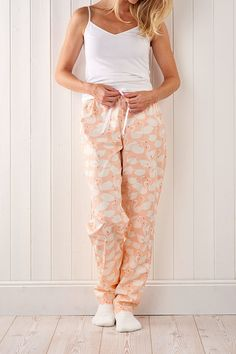 Up your loungewear game in The New Craft House's cosy-glam swan pyjamas.