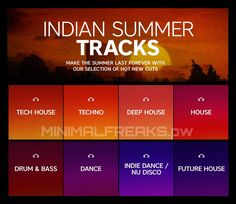Beatport Indian Summer Tracks September 2016 MFSW31 » Minimal Freaks Indie Dance, Dance Music, Tech House Music, Minimal Techno, 100 Chart, Indian Summer, Drum, Bass, September