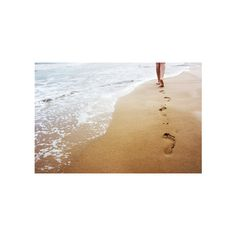 footsteps in sand ❤ liked on Polyvore featuring backgrounds, pictures, beaches, photo and sand