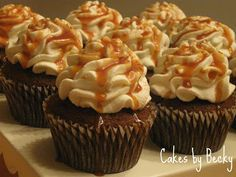 Cakes by Becky: Pumpkin Spice Latte Cupcakes... I have to make these; whether I gain 15 more lbs. or not""